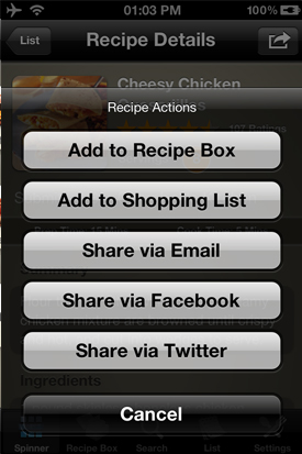 Allrecipes where to add to
