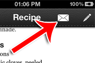 Mealboard app email recipe