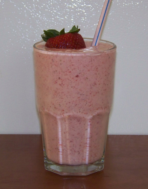 strawberry milkshake recipe and ingredients