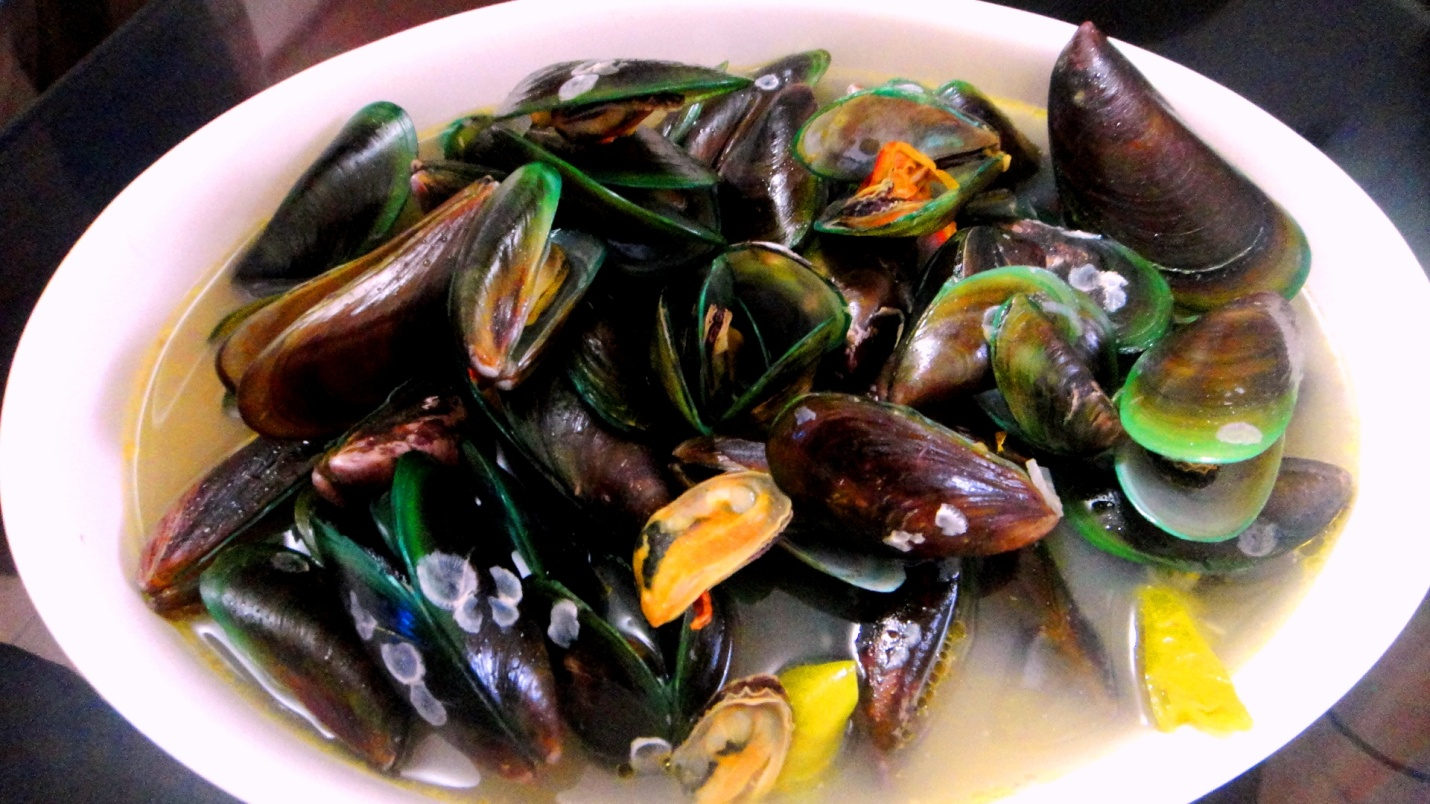 mussels with ginger