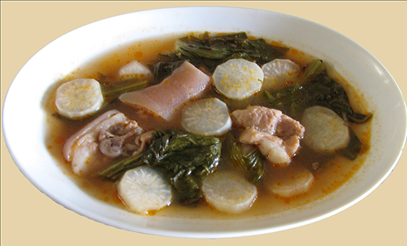 Filipino red sinigang