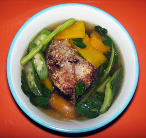 Law oy soup recipe vegetable soup with fried fish jean for Fish and vegetable recipes