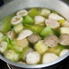 Leafy Vegetable Soup with Meatballs Recipe