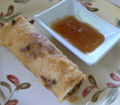 fried spring rolls with rice paper