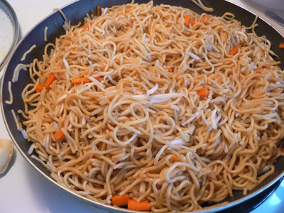 How to make vegetable chow mein