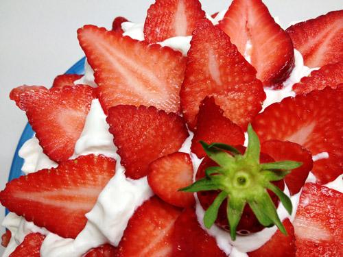 Chinese cake recipe with fruit
